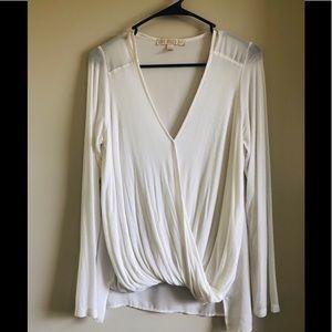 Long sleeve flowing blouse